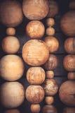 Forme di legno astratte della sfera come fondo Fotografia Stock Libera da Diritti