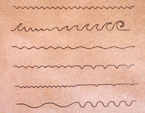 Forme di Wave astratte Immagini Stock