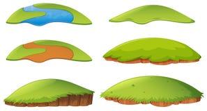 Forme differenti dell'isola illustrazione di stock