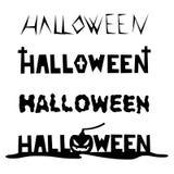 Forme disegnate a mano della fonte per Halloween Fotografie Stock
