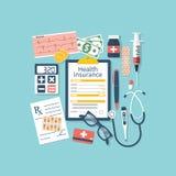 Forme do seguro de saúde ilustração royalty free
