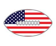 Forme du football de drapeau américain illustration libre de droits
