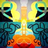 Forme e colori astratti Fotografia Stock Libera da Diritti