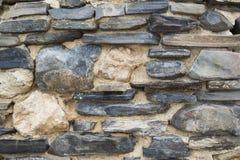 Forme e modelli astratti: Rovine della parete di pietra Immagine Stock Libera da Diritti
