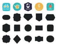 Forme e strutture d'annata disegnate a mano con i bordi approssimativi Fotografie Stock Libere da Diritti