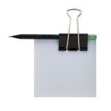 Forme el índice del clip de papel del lápiz Imagenes de archivo