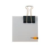 Forme el índice del clip de papel del lápiz Fotografía de archivo