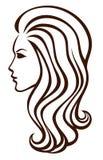 Forme el icono de la muchacha Imágenes de archivo libres de regalías