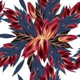 Forme el modelo del vector con estilo tropical del vintage de las flores Imagenes de archivo