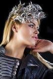 Forme el retrato de la hembra rubia sensual con estilo de pelo Foto de archivo libre de regalías