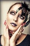 Forme el retrato del vampiro femenino foto de archivo