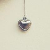 Forme en acier de coeur pour la valentine Images libres de droits