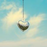 Forme en acier de coeur pour la valentine Image libre de droits