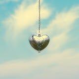 Forme en acier de coeur pour la valentine Photo libre de droits