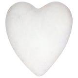 Forme en pierre de coeur d'isolement sur le blanc Images stock