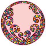 Forme en spirale de cercle de cadre de bâton illustration libre de droits