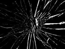 Forme en verre brisée cassée de coeur Photo stock
