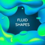 Forme fluide di colore Fotografia Stock