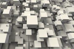 Forme géométrique abstraite de cube Image libre de droits