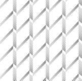 Forme géométrique de triangle tramée d'écran Fond noir Texture et modèle blancs pliage de papier plis Images stock