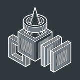 Forme géométrique de vecteur abstrait, forme 3D créative Photographie stock libre de droits