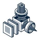 Forme géométrique de vecteur abstrait, forme 3D créative Photographie stock