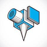 Forme géométrique de vecteur abstrait, forme 3D créative Image stock