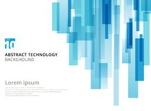 Forme géométrique recouverte verticale de places de technologie abstraite illustration stock