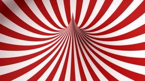 Forme géométrique rouge et blanche Photographie stock libre de droits