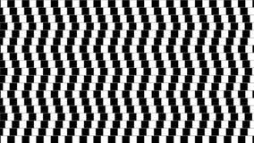 Forme géométrique tordue abstraite d'illusion optique banque de vidéos