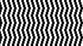 Forme géométrique tordue abstraite d'illusion optique Images stock