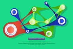 Forme geometriche astratte brillanti Immagini Stock Libere da Diritti