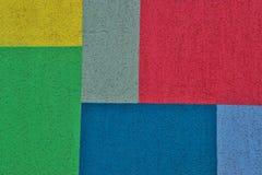 Forme geometriche colorate luminose per struttura o fondo Fotografia Stock