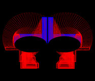Forme geometriche colorate su un fondo nero Fotografia Stock Libera da Diritti
