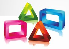 forme geometriche 3D Fotografia Stock