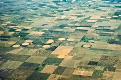 Forme geometriche di agricoltura Fotografia Stock Libera da Diritti