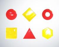 Forme geometriche di gouache illustrazione vettoriale