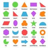 Forme geometriche educative fissate illustrazione di stock