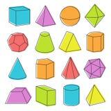 Forme geometriche isometriche Immagine Stock
