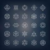 Forme geometriche - la geometria sacra Immagini Stock