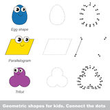 Forme geometriche semplici per i bambini Fotografie Stock Libere da Diritti