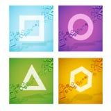 Forme geometriche variopinte Fotografia Stock