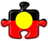 Forme indigène australienne de puzzle d'indicateur de bouton Images stock
