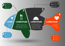 Forme Infographic de poissons Images stock
