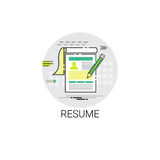 Forme Job Vacancy Recruitment Application Icon de cv de résumé Photo stock