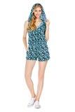 Forme la foto de la mujer magnífica joven que lleva la ropa de moda del verano Imagen de archivo libre de regalías