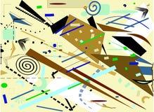 Forme marroni geometriche di immaginazione variopinta astratta del fondo su beige Fotografia Stock Libera da Diritti