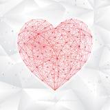 Forme moléculaire de coeur illustration stock
