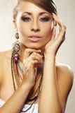 Forme a mulher com jóia fotografia de stock royalty free