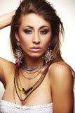 Forme a mulher com jóia Imagem de Stock Royalty Free